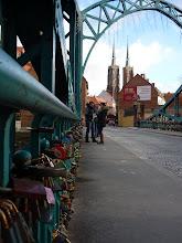 Photo: Breslau, Brücke mit Schlössern