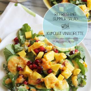 Refreshing Summer Salad with Kumquat Vinaigrette #OXOGreenSaver.