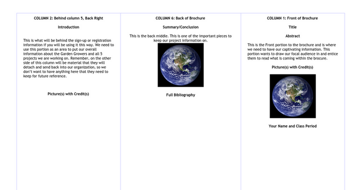 copy of science brochure template google docs