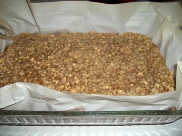Bake for 30 - 35 minutes or until filling is set and crumbles are...