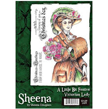 Sheena Douglass A Little Bit Festive Stamp A6 - Victorian Lady UTGÅENDE