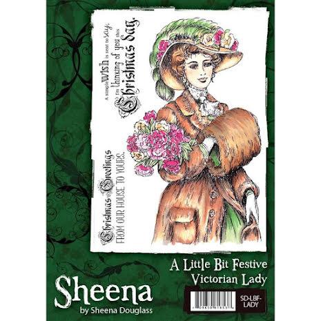Sheena Douglass A Little Bit Festive Stamp A6 - Victorian Lady UTGÅENDE