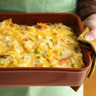 Rotel Chicken Mexican Casserole.