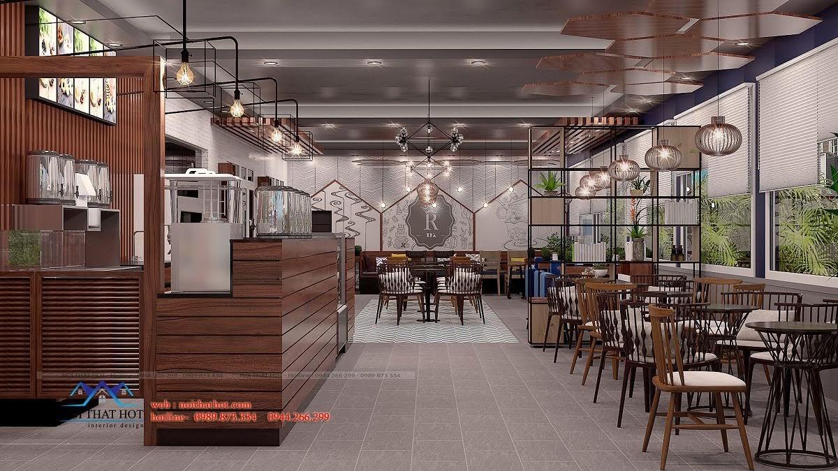 thiết kế quán trà sữa royal tea 2