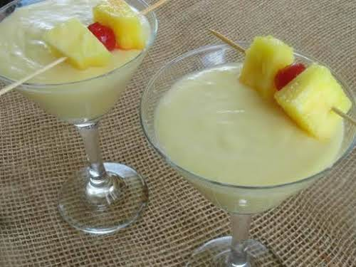 """Pina Colada Delight""""A creamy blend of coconut, pineapple and rum. This has..."""