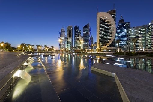 Cityscape,Doha, Qatar, City, Buildings