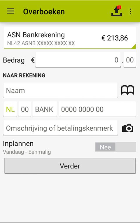 ASN Mobiel Bankieren- screenshot