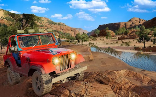 Offroad Land Cruiser Jeep 4x4 Army Jeep Racing Sim - náhled