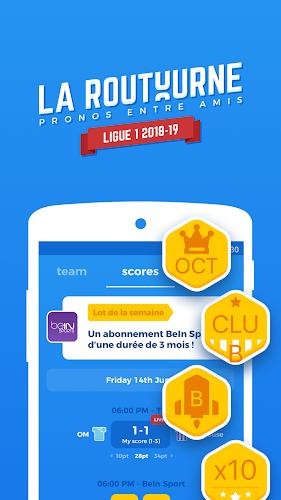 La Routourne - Ligue 1 - Sports forecast Android App Screenshot