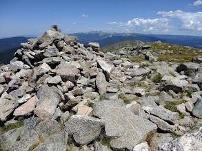 Photo: Summit cairn of Santa Fe Baldy