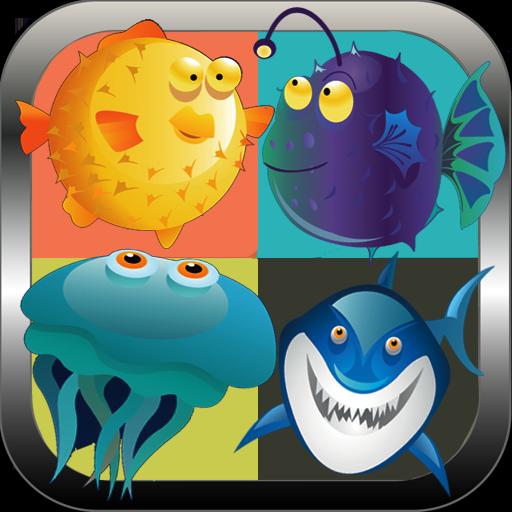 動物のマッチアップ:魚