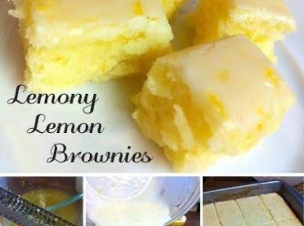 Lemony Lemon Brownies Recipe