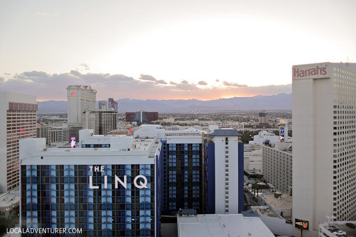 Views from the Las Vegas High Roller Wheel.