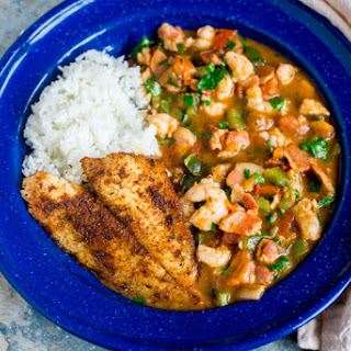 Pan-Fried Flounder with Shrimp Étouffée