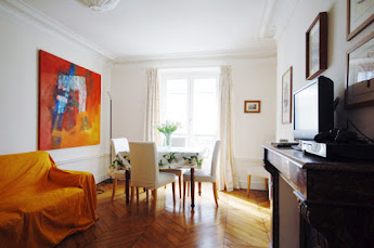 living area Ile St Louis apartment