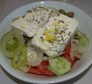 Horiatiki Salata Greek Village Salad Recipe