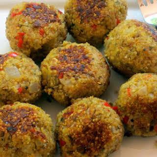 Quinoa (Meatless) Meatballs.