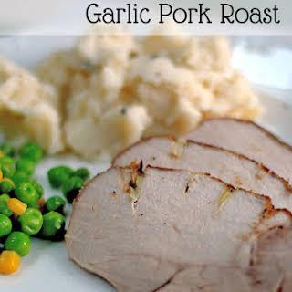 Crock Pot Garlic Pork Roast.