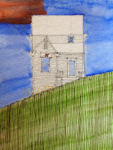 Photo: Erin's Room, 7.18.2013, 8x10 ink and watercolor