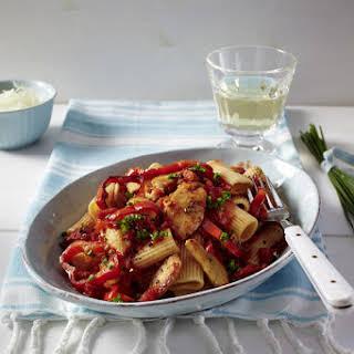 Spicy Chicken and Pepper Rigatoni.