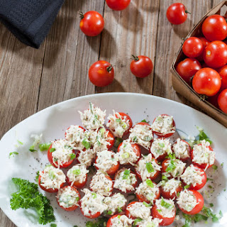 Chicken Stuffed Tomato Bites Appetizers Recipe