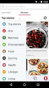 Opera browser for Android beta v29.0.1809.92697
