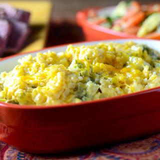 Broccoli Cheese Rice Casserole.