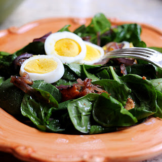 Spinach And Mushroom Salad With Warm Bacon Dressing Recipes