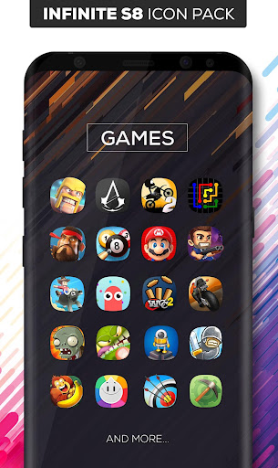 Infinite S8 Icon Pack Apps for Android screenshot