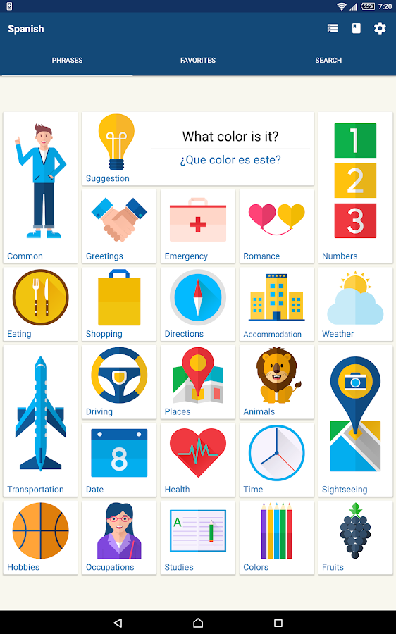Phrasebook - Learn Languages- screenshot