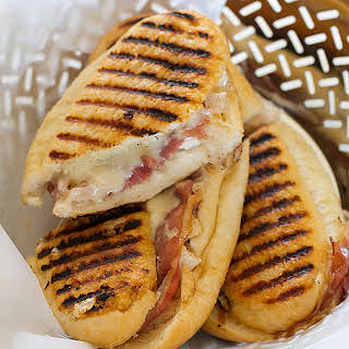Chicken Cordon Bleu Grilled Cheese Panini.