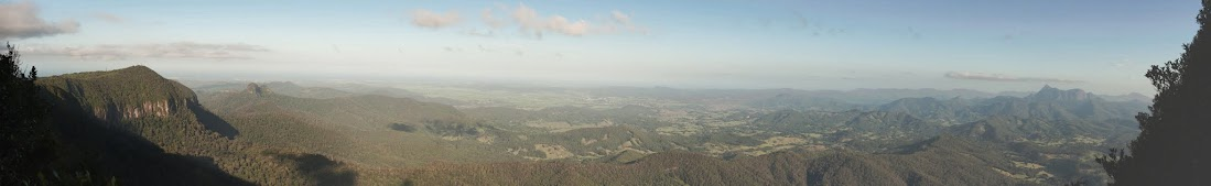 """Panorama from Panorama from """"Best look out of all"""" at Springbrook National Park"""