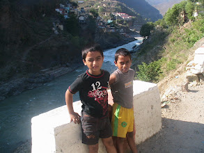 Photo: On the bank of Deva Prayag