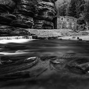 by Petr Musil - Uncategorized All Uncategorized ( water, mill, czech switzerland, park, national, white, ruins )