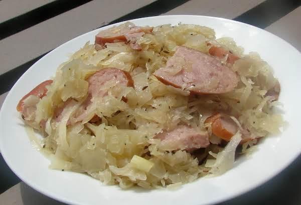 Kielbasa Sausage With Caraway Sauerkraut Recipe