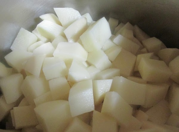 Cover potatoes with water and add 1 tablespoon of kosher salt. It is best...