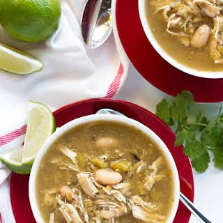 Slow Cooker Salsa Verde Chicken Soup.