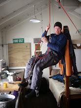 Photo: hut day? learn some alpine tricks inside the hut
