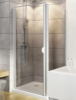 Paroi latérale pour porte de douche pivotante, 80 ou 90 cm