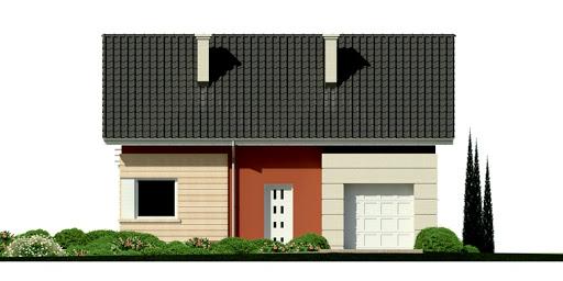 Dom przy Polnej 2 - Elewacja przednia