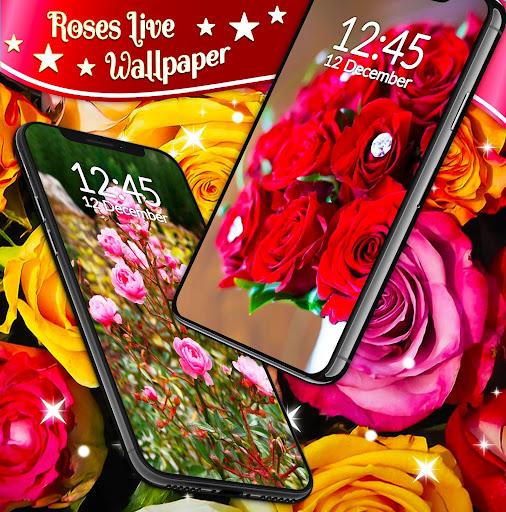 Red Rose ud83cudf39 Diamond Shine Live Wallpaper screenshots 4