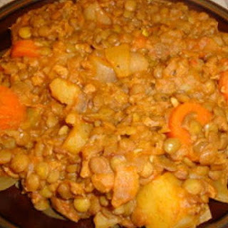 Traditional Spanish Lentils.