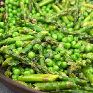 Sautéed Asparagus and Peas.