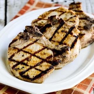 Greek-Seasoned Grilled Pork Chops with Lemon and Oregano.