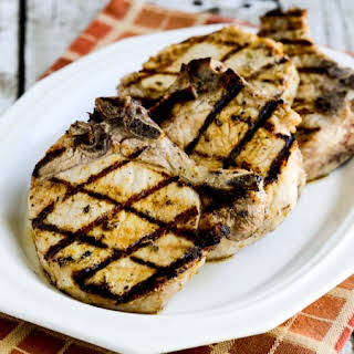 Greek-Seasoned Grilled Pork Chops with Lemon and Oregano.