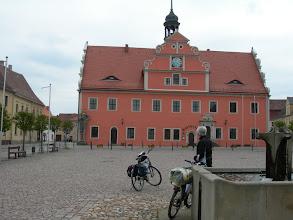 Photo: Belgern Markt mit Rathaus