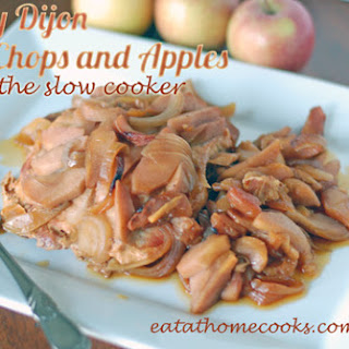 Honey Dijon Pork Chops and Apples in the Slow Cooker Recipe