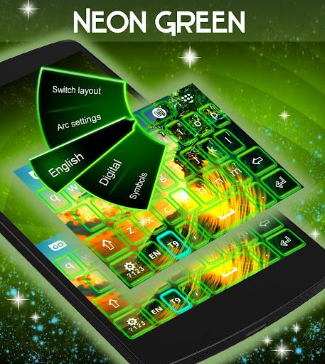 無料个人化Appのネオングリーンのキーボード|記事Game