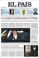 Photo: En la portada de EL PAÍS del sábado 24 de noviembre: La campaña catalana acaba en el fango; La UE fracasa en su intento de aprobar un nuevo presupuesto; El Rey, operado con éxito; Muere José Luis Borau, algo más que un cineasta. http://srv00.epimg.net/pdf/elpais/1aPagina/2012/11/ep-20121124.pdf