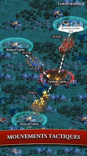 Code Triche Lords & Knights - MMO de stratu00e9gie mu00e9diu00e9val APK MOD screenshots 2